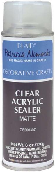 Clear Acrylic Sealer Aerosol Spray 6oz Matte