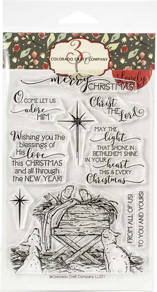 """Colorado Craft Company Clear Stamps 4""""X6"""" Bethlehem's Light-Lovely Legs"""