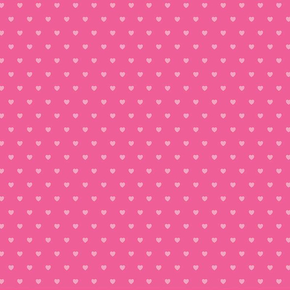 """Core'dinations Core Basics Patterned Cardstock 8.5""""X11"""" Dark Pink Hearts"""