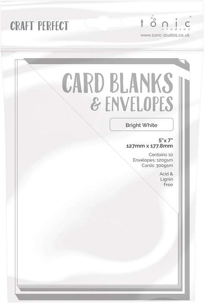 """Craft Perfect Card Blanks 5""""X7"""" Bright White"""