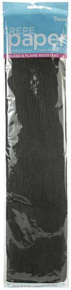 "Crepe Paper Sheets 20""x7.5feet Black"