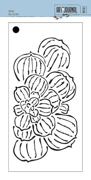 """Elizabeth Craft Stencil 4.3""""X8.7"""" Bloom-Art Journal"""