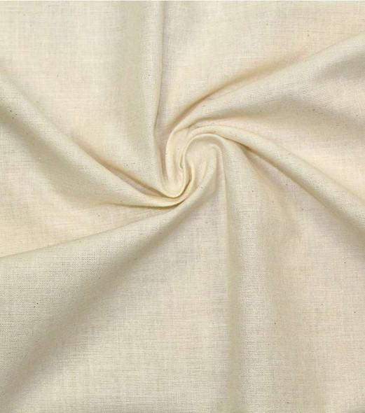 "Hanes Fabrics Cotton Muslin 90""X15yd D/R Unbleached/Natural"