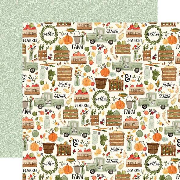 """Hello Autumn Double-Sided Cardstock 12""""X12"""" Fall Harvest"""