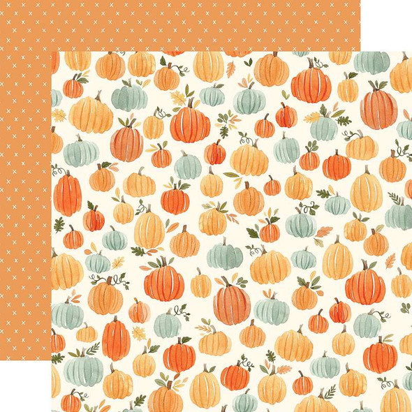 """Hello Autumn Double-Sided Cardstock 12""""X12"""" Pumpkins"""