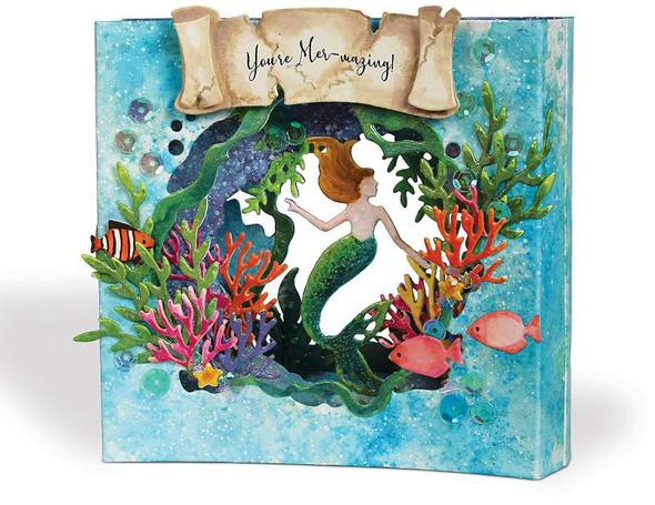 i-crafter Dies Tunnel Card, Mermaid