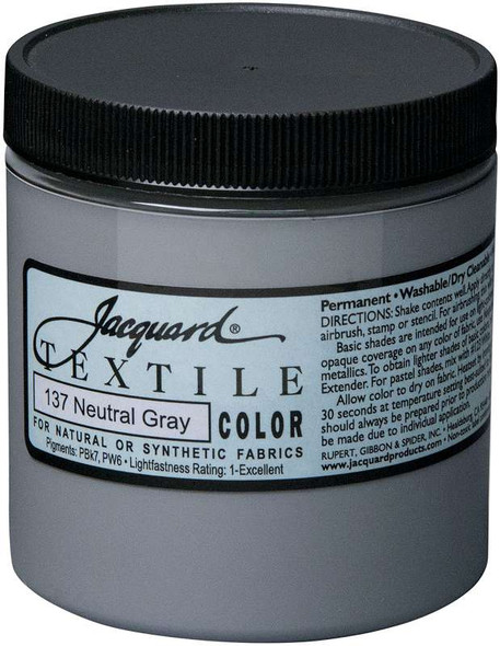 Jacquard Textile Color Fabric Paint 8oz Neutral Grey