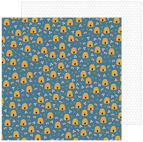 """Jen Hadfield The Avenue Double-Sided Cardstock 12""""X12"""" Honeycomb Ct."""