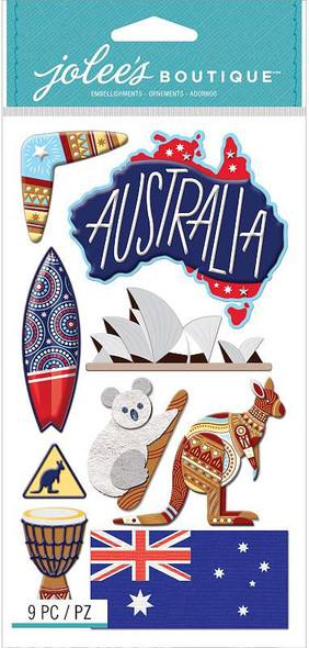 Jolee's Boutique Themed Embellishments 9/Pkg Australia