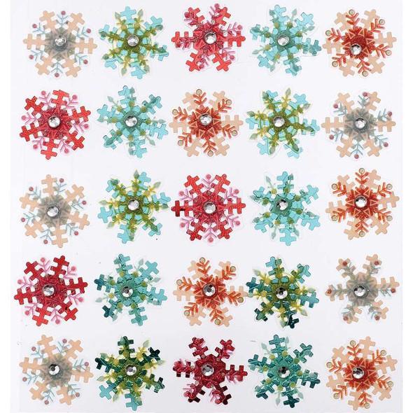 Jolee's Christmas Stickers Snowflakes