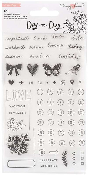 Maggie Holmes Day-To-Day Planner Clear Stamp Set