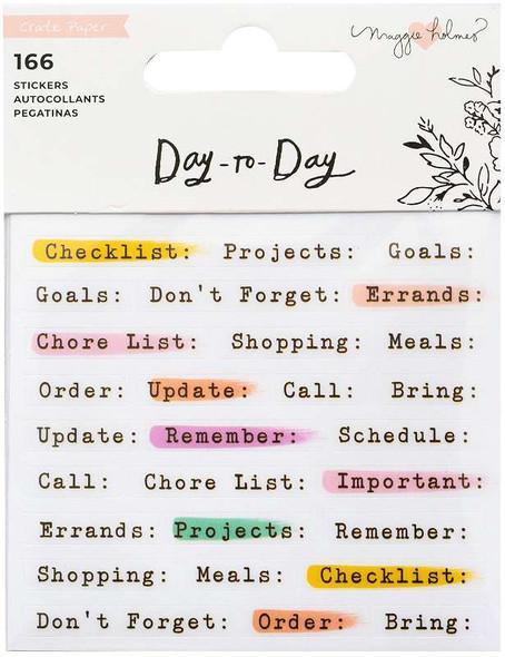 Maggie Holmes Day-To-Day Planner Mini Sticker Book 166/Pkg Book 2