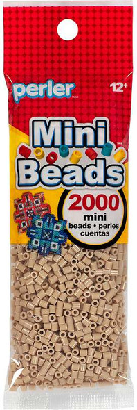 Mini Perler Beads 2000/Pkg Tan