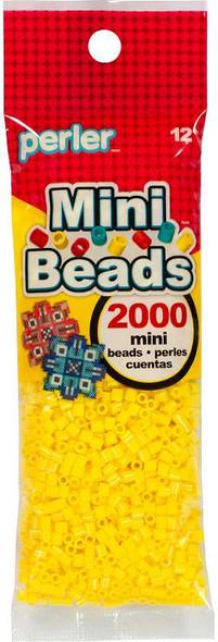 Mini Perler Beads 2000/Pkg Yellow