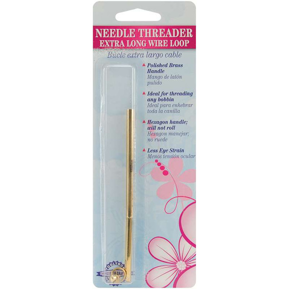 Needle Threader W/Extra Long Wire Loop