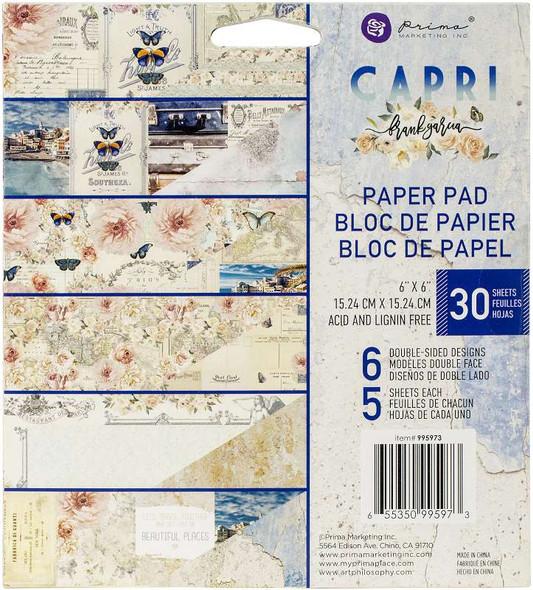 "Prima Marketing Double-Sided Paper Pad 6""X6"" 30/Pkg Capri"