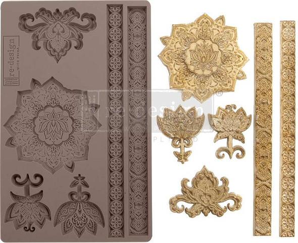 "Prima Marketing Re-Design Mould 5""X8""X8mm Agadir Patterns"