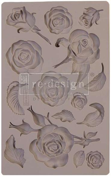"Prima Marketing Re-Design Mould 5""X8""X8mm Fragrant Roses"