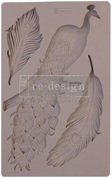 "Prima Marketing Re-Design Mould 5""X8""X8mm Regal Peacock"
