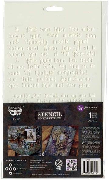 """Prima Marketing Stencil 6""""X9"""" Gothic"""