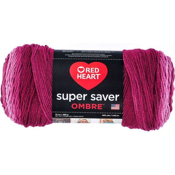 Red Heart Super Saver Ombre Yarn Anemone