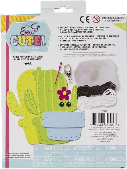 Sew Cute! Felt Backpack Clip Kit Cactus