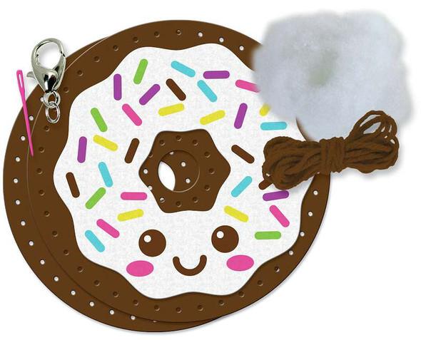 Sew Cute! Felt Backpack Clip Kit Donut