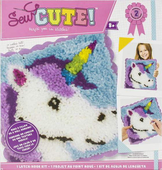 Sew Cute! Latch Hook Kit Unicorn