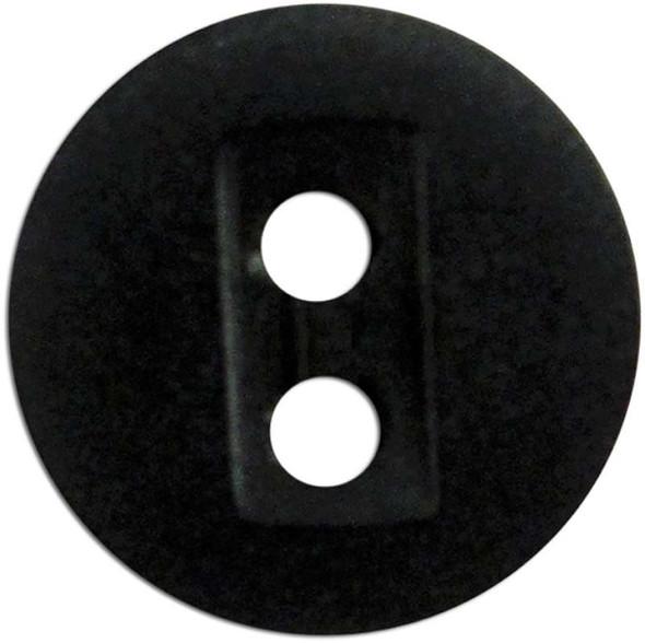 """Slimline Buttons Series 1 Dark Brown 2-Hole 1/2"""" 6/Pkg"""