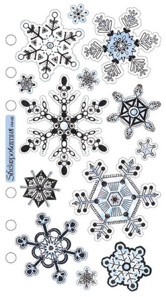 Sticko Vellum Stickers Snowflakes