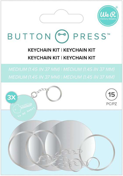 We R Memory Keepers Button Press Keychain Kit Makes 3