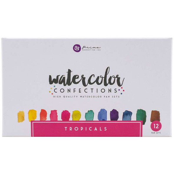 Prima Marketing Watercolor Confections Watercolor Pans 12/Pk Tropicals