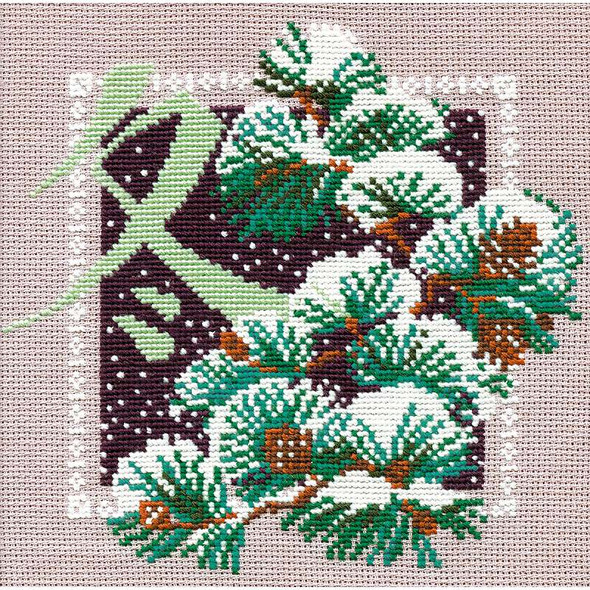 """Winter Counted Cross Stitch Kit 8""""X8"""" 16 Count"""