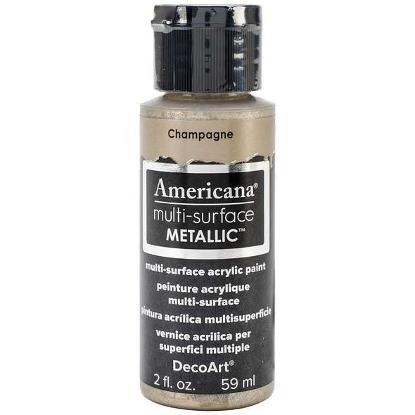 Americana Multi-Surface Metallic Acrylic Paint 2oz Champagne