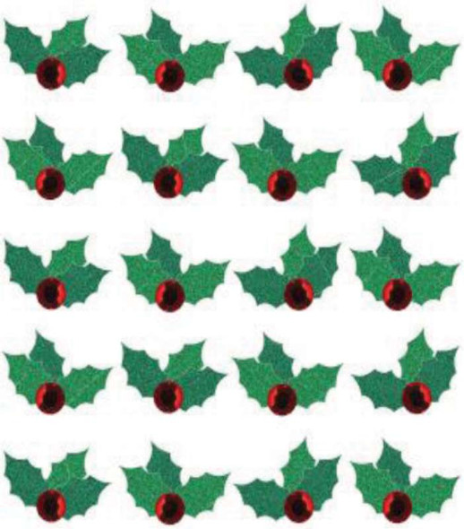 Jolee's Boutique Dimensional Stickers Christmas Holly Repeats
