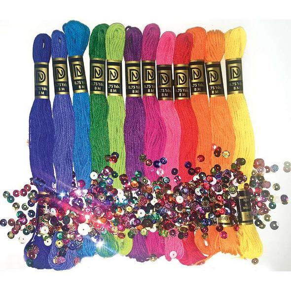 Zenbroidery Stitching Trim Pack Brights 12/Pkg