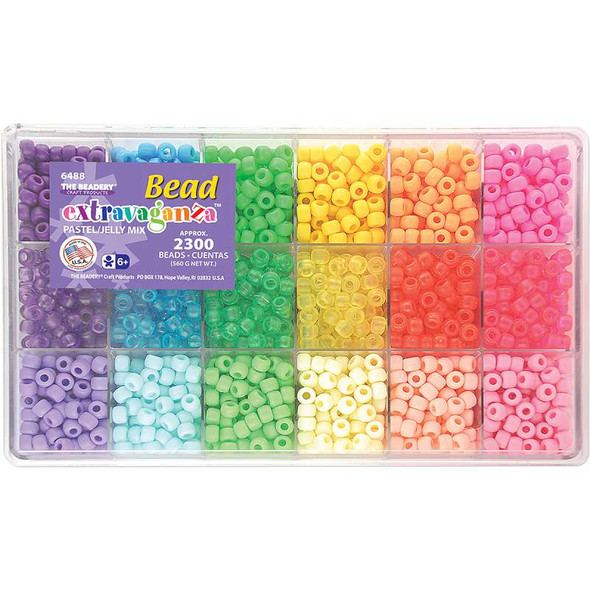 Bead Extravaganza Bead Box Kit 19.75oz Pastel & Jelly