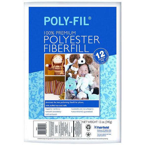 Poly-Fil Premium Polyester Fiberfill 12oz FOB: MI