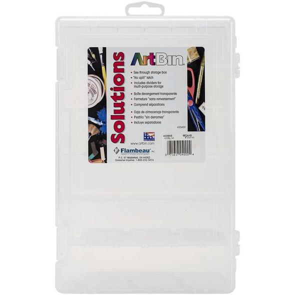 "ArtBin Solutions Box 6-12 Compartments  10.75""X7.375""X1.75"" Translucent"