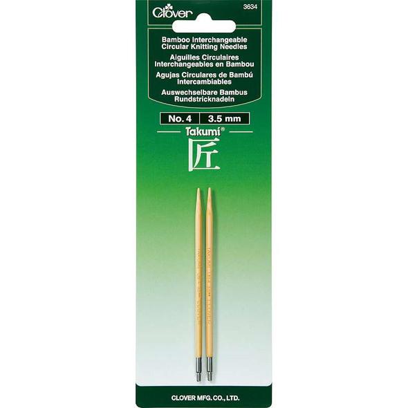 Takumi Bamboo Interchangeable Circular Knitting Needles Size 4/3.5mm