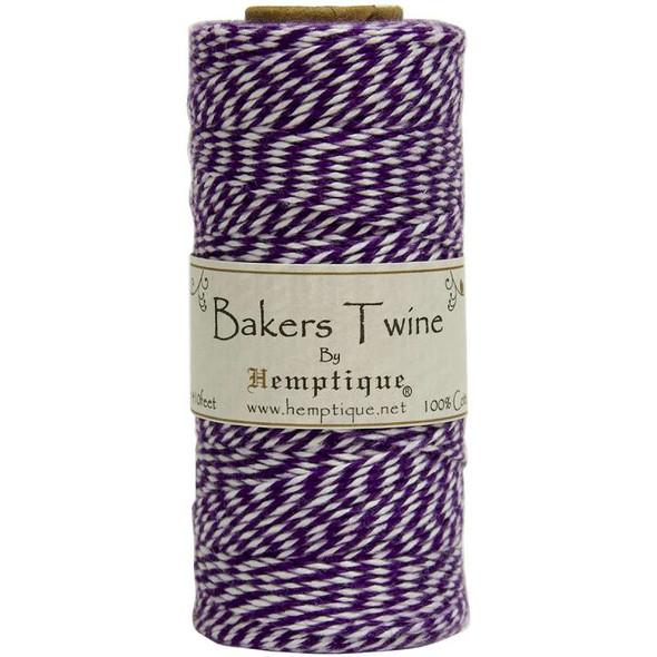 Cotton Baker's Twine Spool 2-Ply 410' Purple