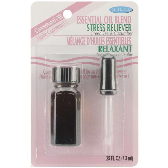 Essential Oil Blend .25oz Stress Reliever - Green Tea & Cucumber