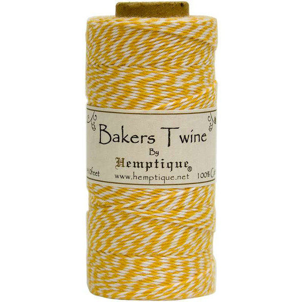 Cotton Baker's Twine Spool 2-Ply 410' Yellow
