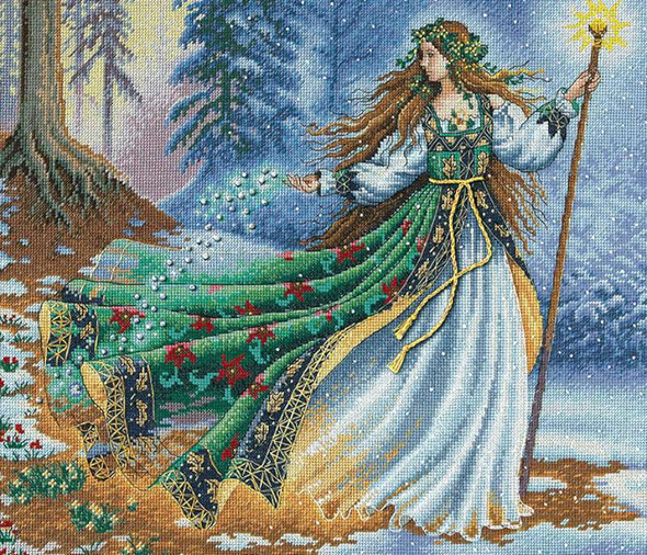 """Gold Collection Woodland Enchantress Counted Cross Stitch Ki 14""""X12"""" 16 Count"""