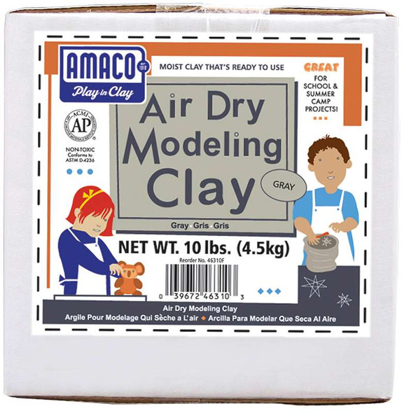 Air-Dry Modeling Clay 10lb Gray