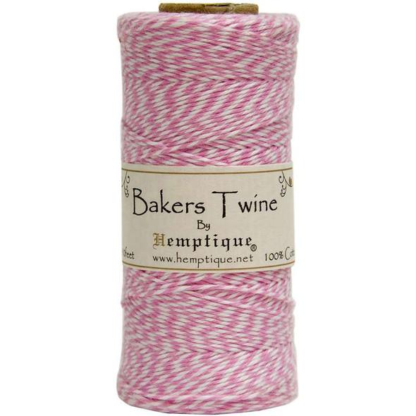 Cotton Baker's Twine Spool 2-Ply 410' Light Pink