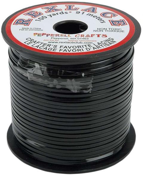 "Rexlace Plastic Lacing .0938""X100yd Black"