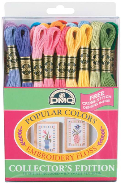 DMC Embroidery Floss Pack 8.7yd Popular Colors 36/Pkg