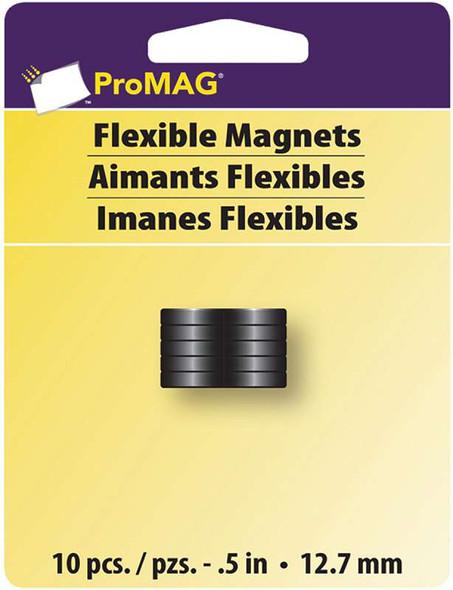 "ProMag Flexible Round Magnets .5"" 10/Pkg"