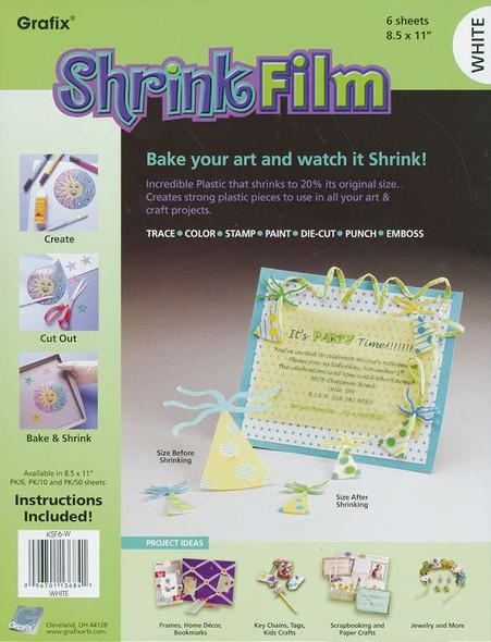 """Shrink Film 8.5""""X11"""" 6/Pkg White"""